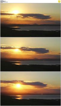 夕阳的日落实拍视频素材