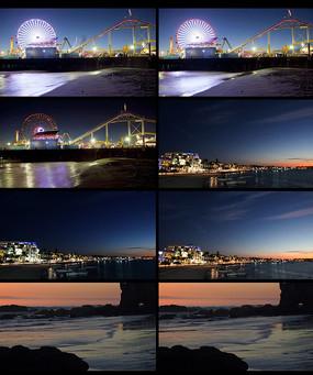 延时城市夜景视频 mp4