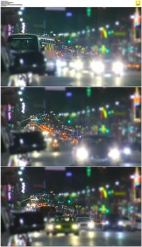 夜晚街道交通实拍视频素材