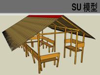 中式传统凉亭SU模型