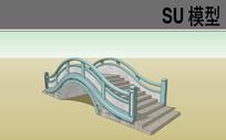 中式古典拱桥SU模型