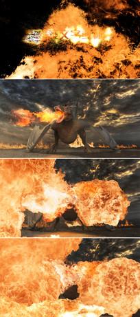 飞龙喷出火焰企业标志展示模板