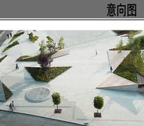 国外拐角公园线性广场 JPG