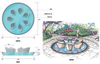花瓣喷泉方案设计