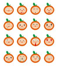 可爱橙子卡通表情包