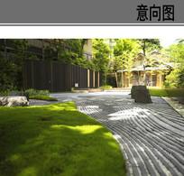 枯山水庭院线性景观 JPG
