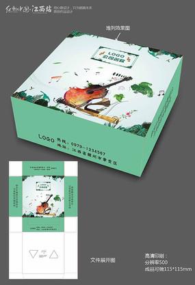 清新音乐餐厅纸巾盒