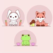 小动物矢量图
