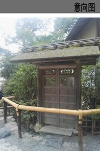 小庭院入口景观构筑