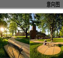校园景观意向