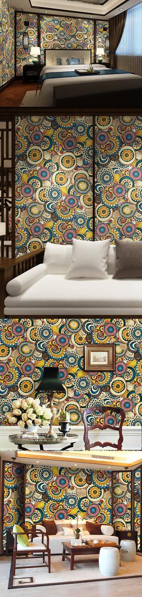 中式传统花纹墙纸