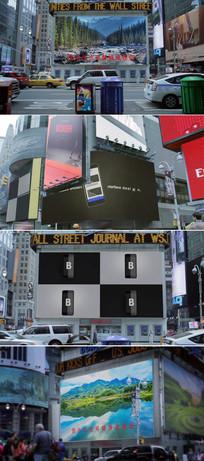 实拍纽约城市广告牌模板