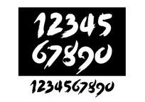 数字毛笔字体