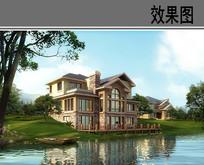 别墅滨水景观