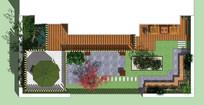 别墅庭院设计彩平