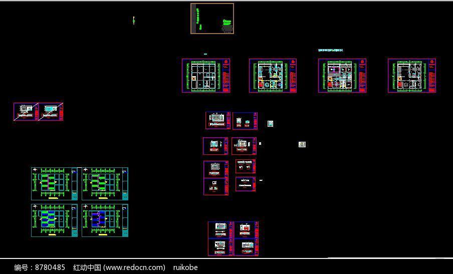 别墅新中式设计cad施工图图片