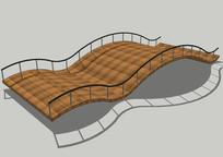 波浪型木质平台