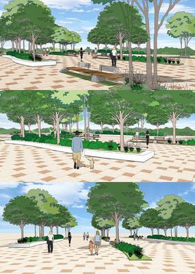 城市活动广场SU模型