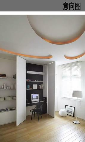 创意书房书桌设计