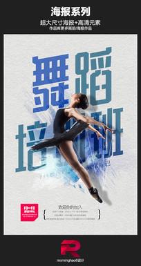 淡雅芭蕾舞培训班招生海报