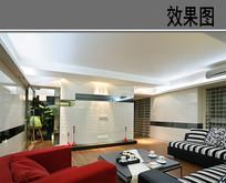 多色装修客厅