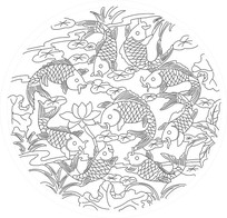 连年有鱼雕刻图案