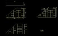 倾斜装饰柜三视图