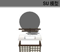 日式风格洗手台模型