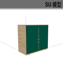 日式绿色衣柜