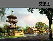 生态园门口景观 JPG