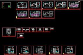 室内工装cad售楼部施工图