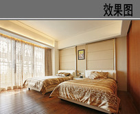 双床卧室 JPG