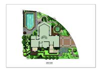 私家花园庭院景观psd分层