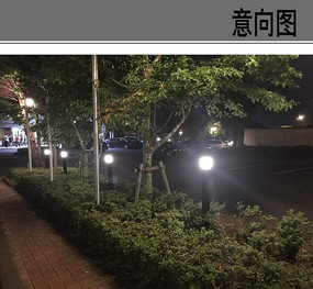 现代简约矮灯柱