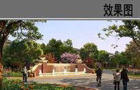 小区入口喷泉景观 JPG