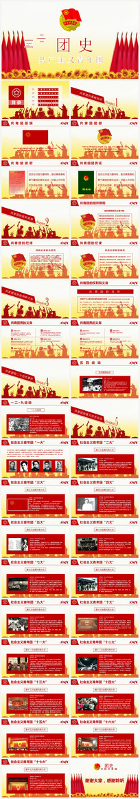 中国共青团团史PPT模板