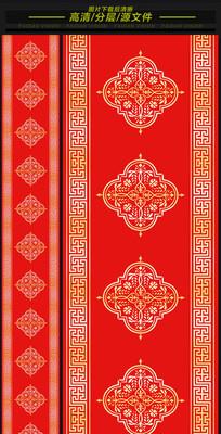 中式汉唐大红欧式高端婚礼T台图案