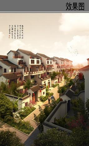 中式建筑群景观
