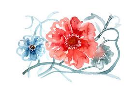 装饰花纹插画 PSD