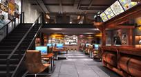 酒吧造型式网咖模型