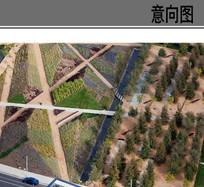 生态湿地公园线性景观意向 JPG