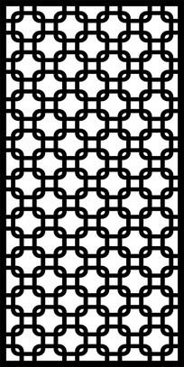 圆角方格镂空雕图案