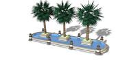 园林树池水景模型