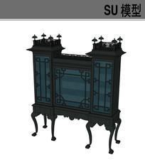 中式造型柜子模型