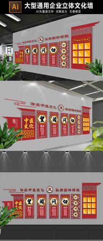 中式中医文化墙展板