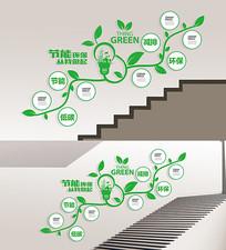 创意环保楼梯文化墙展板