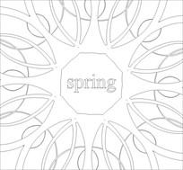 春天雕刻图案