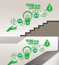 环保节能走廊楼梯文化墙展板