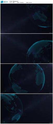 科技地球背景视频素材