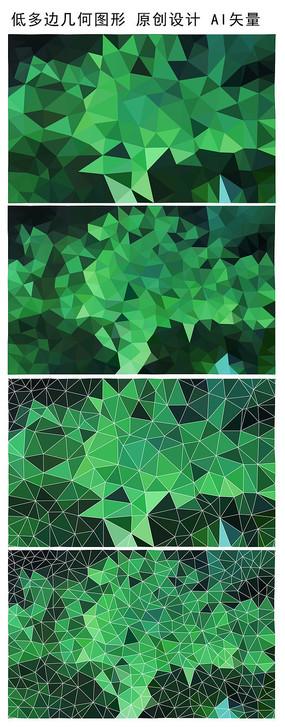 绿色低多边形背景